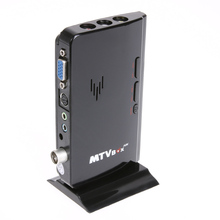 New MTV Box PC Receiver Tuner External LCD CRT VGA TV Tuner HD 1080P TV BOX Speaker for HDTV Channel Gaming Control