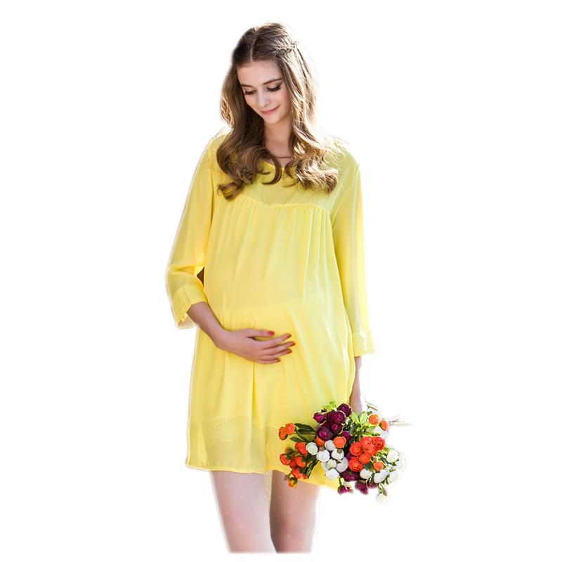 Maternity Nursing Dress For Pregnant Women Clothing 2016 Summer Fashion Chiffon Breastfeeding Skirt Pregnancy Clothes Lactation<br>