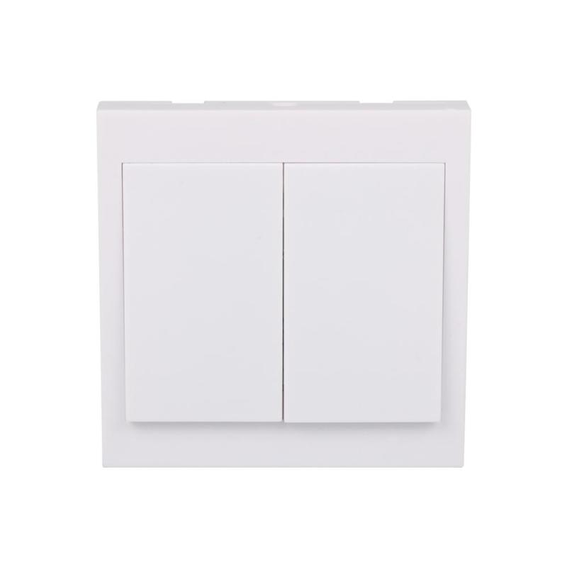 Wall Panel Remote Transmitter 2 Button Sticky Smart Home Room Hall Living Bedroom Wireless Switch