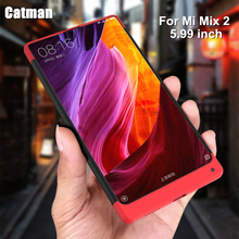 catman case for xiaomi mi mix 2 case new design for 360 degrees protection hard plastic matte coque for xiaomi mix 2 cover case(China)