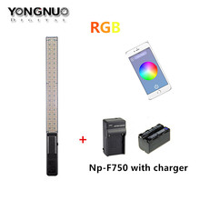 YONGNUO YN360 Wand  Handheld LED Video Light 3200k 5500k RGB Colorful  Ice Light 39.5CM with NP-F750 Battery & Charger
