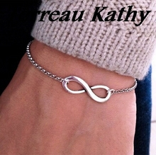 Terreau Kathy BK 2016 New Fashion Fine Jewelry Christmas Gift Bohemia Style Infinity Symbol Bracelets For Women