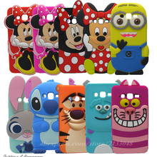 3D Cartoon Minnie Stitch Silicone Cover Case For Samsung Galaxy Ace 4 Lite G313 G313H SM-G313H Ace 4 Neo SM-G318H Phone Bag Case(China)