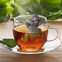 Cute Lazy Sloth Tea Infuser Silicone Reusable Portable Tea Strainer Coffee Herb Filter Empty Tea Bags Loose Leaf Strainer D0268(China)