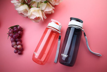 Newest 560ml\590ml Plastic Water Bottle Simple Design Leak-proof Portable Sports Travel Space(China)