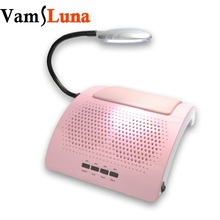 Nail Vacuum Cleaner With 2 Fan & Light & 2 Dust Collecting Bags Beauty Salon Equipment 45W(China)