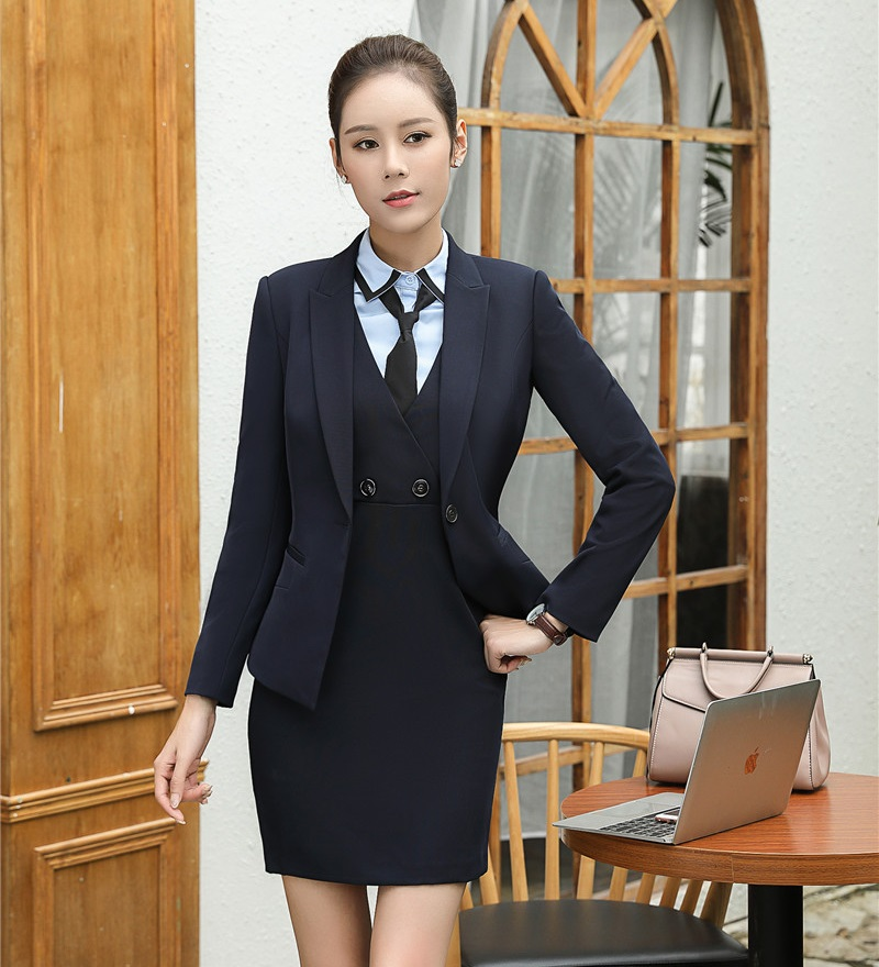 AidenRoy Formal Ladies Dress Suits Women Business Suits Blazer Office Uniforms Styles Ladies Dress Jacket Sets