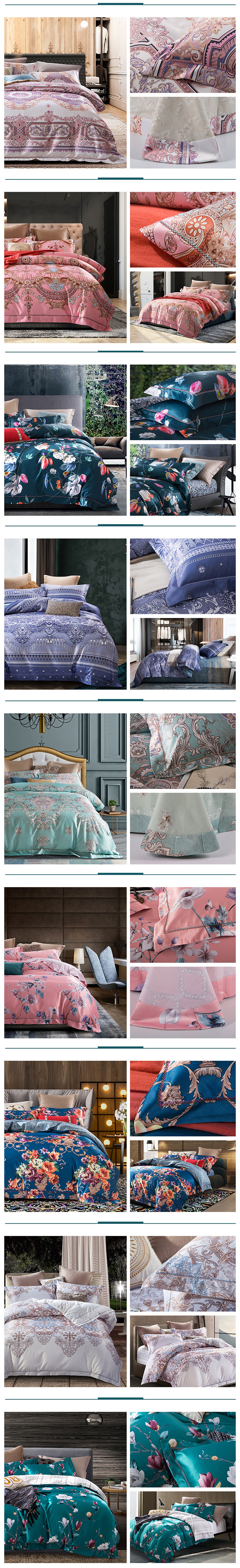 queen comforter bedding sets parure de lit adulte beddengoed Nordic retro duvet cover cotton bed sheets dekbed overtrek bed linen 03