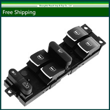 New Chrome Master Window Controller Switch For VW Jetta Golf GTI MK4 Passat B5 Driver Side 3BD 959 857 / 3BD959857 / 1J4 959 857(China)