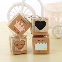 50Pcs/set Vintage Paper Heart Love Rustic Sweet Laser Cut DIY Candy Gift Boxes Wedding Party Favours 4 Style for choice
