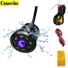 18.5mm Car Backup Camera HD Color Reverse Rear View Cameras 8 LED Night Vision 170 Degree Mini Waterproof Color CCD Image