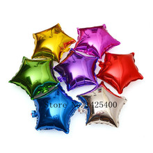 Free Shipping New 10pcs / lots10inch pentagram aluminum balloons birthday party decoration balloon toys for children wholesale