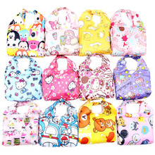 Cute Cartoon Reusable Shopping Bag Foldable Folding Grocery Bags Tsum Tsum Hello Kitty Melody Dog Large Eco Friendly Tote Bag
