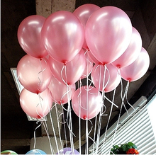 Cheap 50/100pcs 10'' 1.2g pink Round Shape Latex Pearl Balloon Party Decorate Valentine's Day Birthday Wedding Decoratio