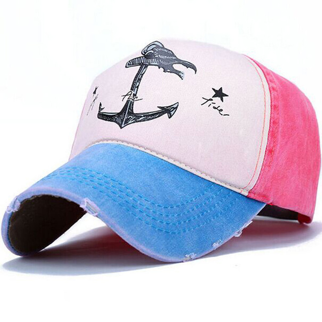 Spring autumn couples hat Man Woman pure cotton baseball caps do old pirate ship anchor sun hat 7 colors