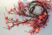 LED Battery Type Blossom Plum Willow Twig Garland 6Ft Bendable Branch Light 60 PCs LED Warm White with Blossom Flower Decoration