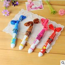 High Quality Cute Cartoon Print 10 Color Automatic Ballpoint Pen / Office School Goods Supplier Online For Sale Bic Pens