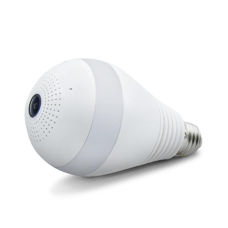 Wholesale 10Pcs 960P Camera Bulb Light Wireless IP Camera Wi-fi FishEye  Mini Kamera 360 Panoramic Home Security System V380<br>