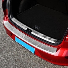 Stainless steel Rear trunk protecting bumper plate molding lid inside fit for Volkswagen Golf 7 GTI 7 Mk7 2014 1pcs per set
