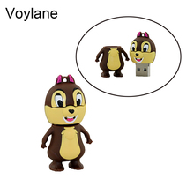 Voylane Real capacity 2GB 4GB 8GB lovely squirrel 16GB 32GB 64GB Pen driver USB Flash Memory USB Flash Drive Cartoon Squirrel