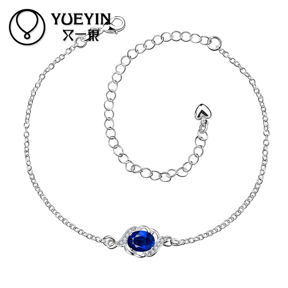 new arrival silver anklet for women foot chain with big crystal jewelry A004-A cheap Wholesale Retail(China (Mainland))