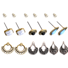 Three kinds of style restoring ancient ways birthday party gift wholesale girl can tear open outfit type earrings free shipping!(China)