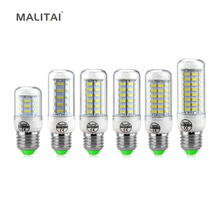 1Pcs 2015 New Arrival E27 7W 12W 15W 18W 20W 25W LED lamps Chandelier 220V 5730SMD LEDs Corn light Bulb Spotlight Candle lantern