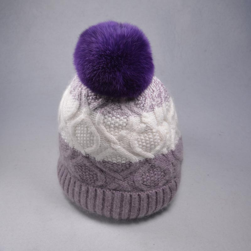 IDUOLELELE Very Very  Soft Quality Pompoms Winter Hat for women Girls Knitted Cotton Beanies  Skullies Female Cap 10cmReal FurОдежда и ак�е��уары<br><br><br>Aliexpress