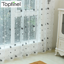 Top Finel 2016 Bird Nest Sheer Curtain Panel Embroidered Curtains for Kitchen Living Room the Bedroom Tulle for Window Treatment