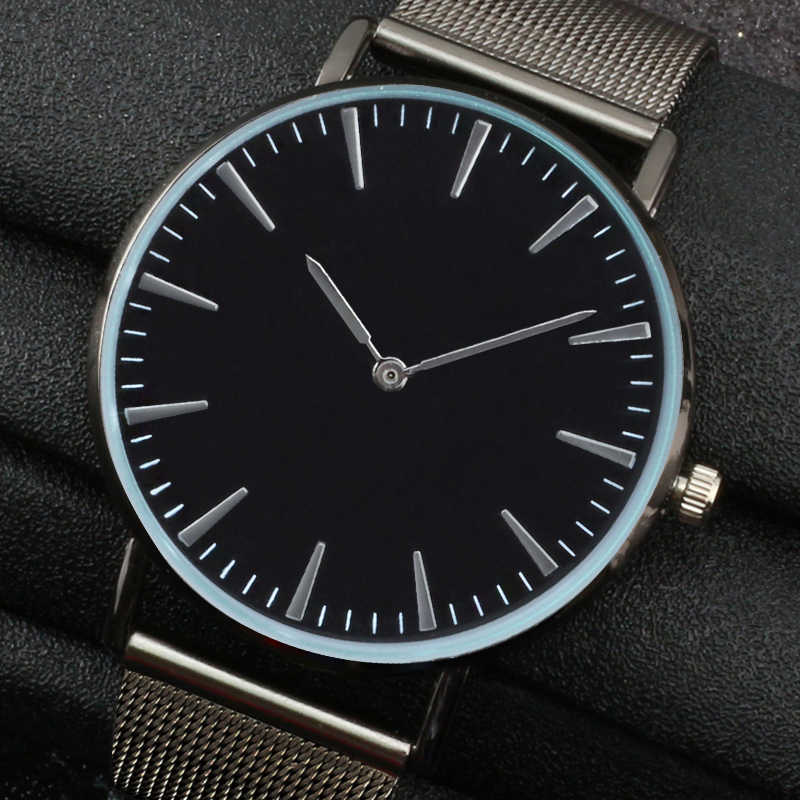 f65fc157e45e Relogio Feminino Fashion Simple Leisure Black Round dial Watches Women  Casual Mesh belt Quartz Couple Watch