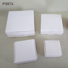 100pcs- ( 40-70mm ) Blank White paper aircraft box for jewelry candies DIY handmade soap party gifts package
