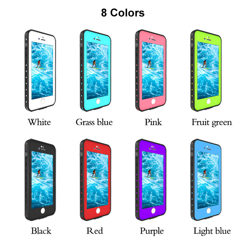 2.For iphone 7 8 plus waterproof case