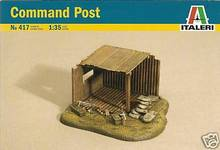Out of print! Italeri 1:35 Scale WWII COMMAND POST for Dioramas 417