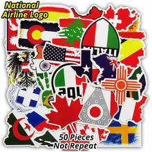Hot Sale 50 PCS Travel National Flags & Random Stickers for Handbag Luggage Car Styling Decal Laptop Decor Sticker Toy Doodle(China)