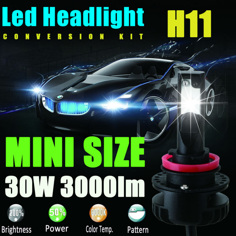 H8 H9 H11 Led Headlight Headlamp Bulbs Conversion Kit with Perfect Beam Pattern Easily Installation Play&amp;Plug LED Fog Lamp Spot<br>