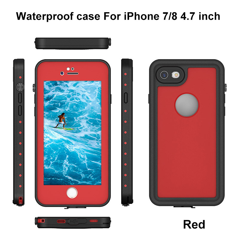 3.For iphone 7 8 plus waterproof case