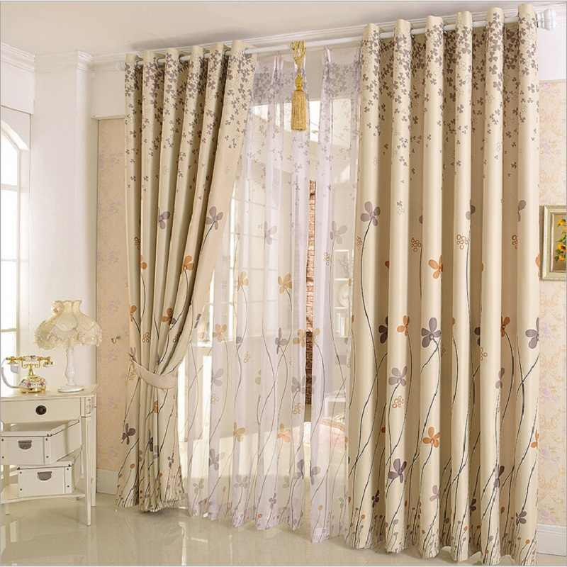 Pastoral Clover Design Decor curtains for window Drapes Sheer Tulle elegant living room curtains panel curtain set WP206B