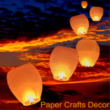 50pcs/lot Oval Shape Flame Resistant Paper Sky Lanterns Wishing Flying Balloon Biodegradable Wedding Party Supplies