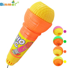 Hot Echo Microphone Mic Voice Changer Gift Birthday Present Kids Party Song Mikrofon microfono microfone Play OT25(China)