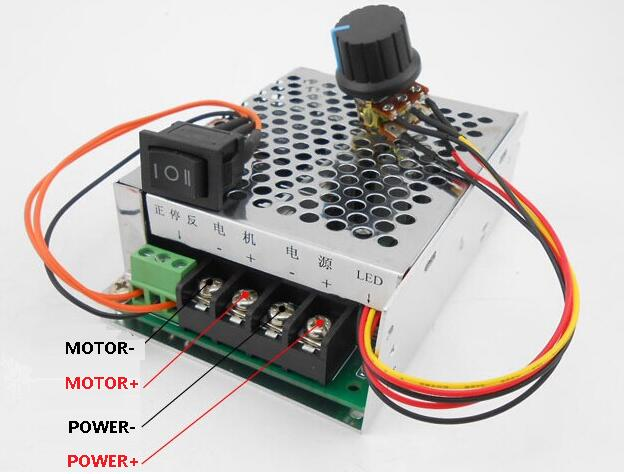 Free shipping PWM DC motor speed controller motor 12v24v36v48v inverted switch reversing switch 40A<br><br>Aliexpress