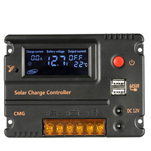 10A 12V 24V LCD Solar Charge Controller Solar Panel Battery Regulator Auto Switch Overload Protection Temperature Compensation(China)