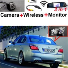 3in1 Special WiFi Camera + Wireless Receiver + Mirror Screen Easy DIY Back Up Parking Rear View System For BMW 5 M5 E39 E60 E61(China)