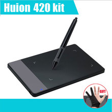 "HUION 420 4"" Digital Tablet Graphics Drawing Tablet Pad w/Pen 2048 Level Digital Pen Signature Pen Tablet mesa digitalizadora"