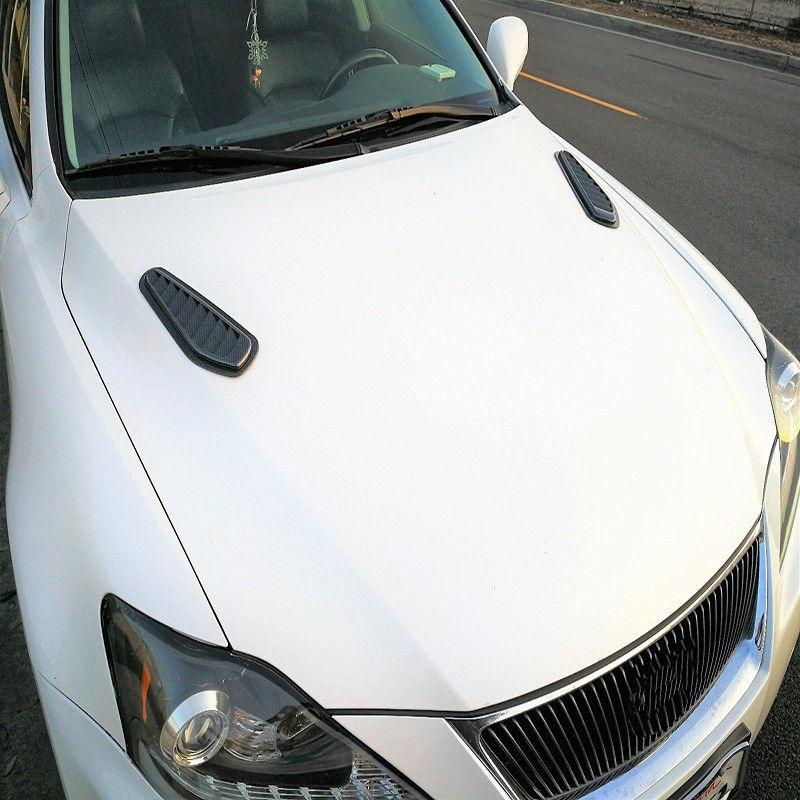 Duokon Universal Car Decorative Air Flow Intake Turbo Bonnet Vent Grille Scoop Cover Sticker Hood Black