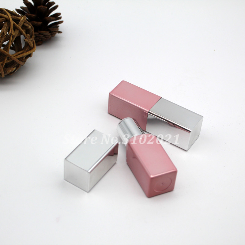 10/20/50pcs Empty 12.1 Square Lipstick Tube Pin silver lip balm pipe shell lip rouge mouth refillable container package bottle<br>
