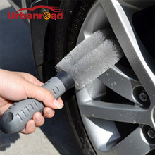 For All Car Auto Motorcycle Car Wash Tire Brush Dust Cleaner Cleaning Tool Wheel Clean For Audi Nissan Kia BMW(China)