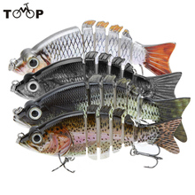 "10cm 21g LIXADA 4"" Isca Artificial Fishing Lure Crankbait Hard Fishing Bait Swimbait Pesca Lures for Bass Pike Fishing Tackle(China)"