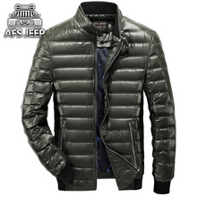 New arrival ultra light down jacket men casual stand collar white duck down jacket men high quality mens down coat M-4XL