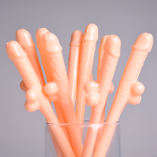 25pcs/lot Hen Night Party Willy Penis Dick Dicky Drinking Straws Joke Sexy Toy Favor Party Drinking Accessory
