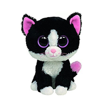 "Pyoopeo Ty Beanie Boos 6"" Pepper the Cat Beanie Baby Plush Stuffed Doll Toy Collectible Soft Toys Big Eyes Plush Toys"